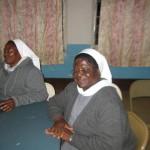 Ni masista wabenedictine kutoka Namibia. Ni Sr. Ottilia (kushoto) na Adela OSB (kulia). 04 July 2014.