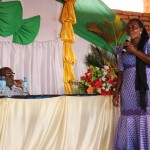 Mayor of Hanga village, Gaudensia Ngonyani, delivering speech